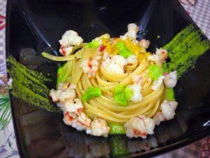 linguine zucchine e gamberi