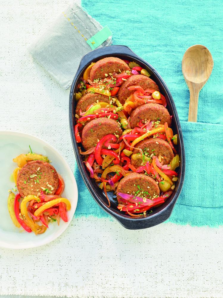 miniburger al miglio con peperonata