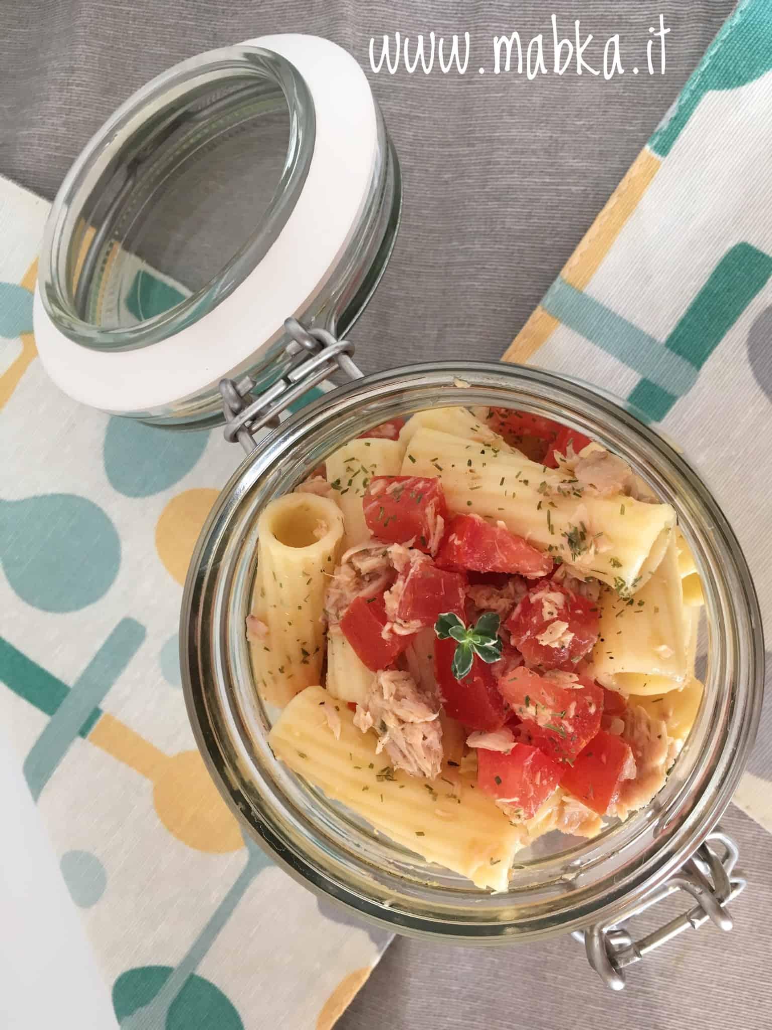Pasta fredda tonno e pomodori lactose free
