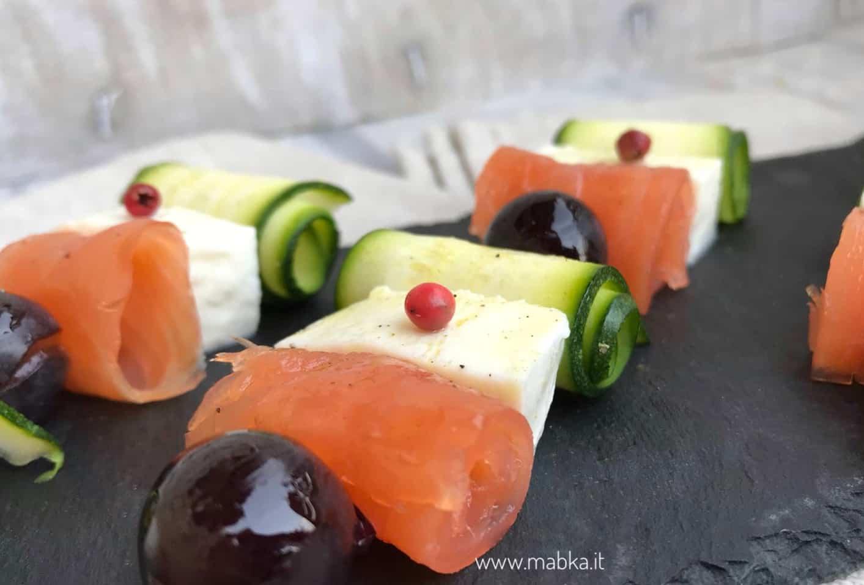 Spiedini senza lattosio con uva