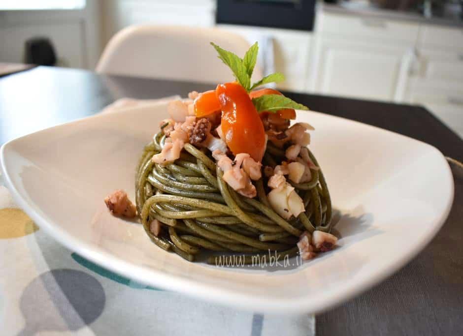 Spaghetti al nero di seppie, senza lattosio