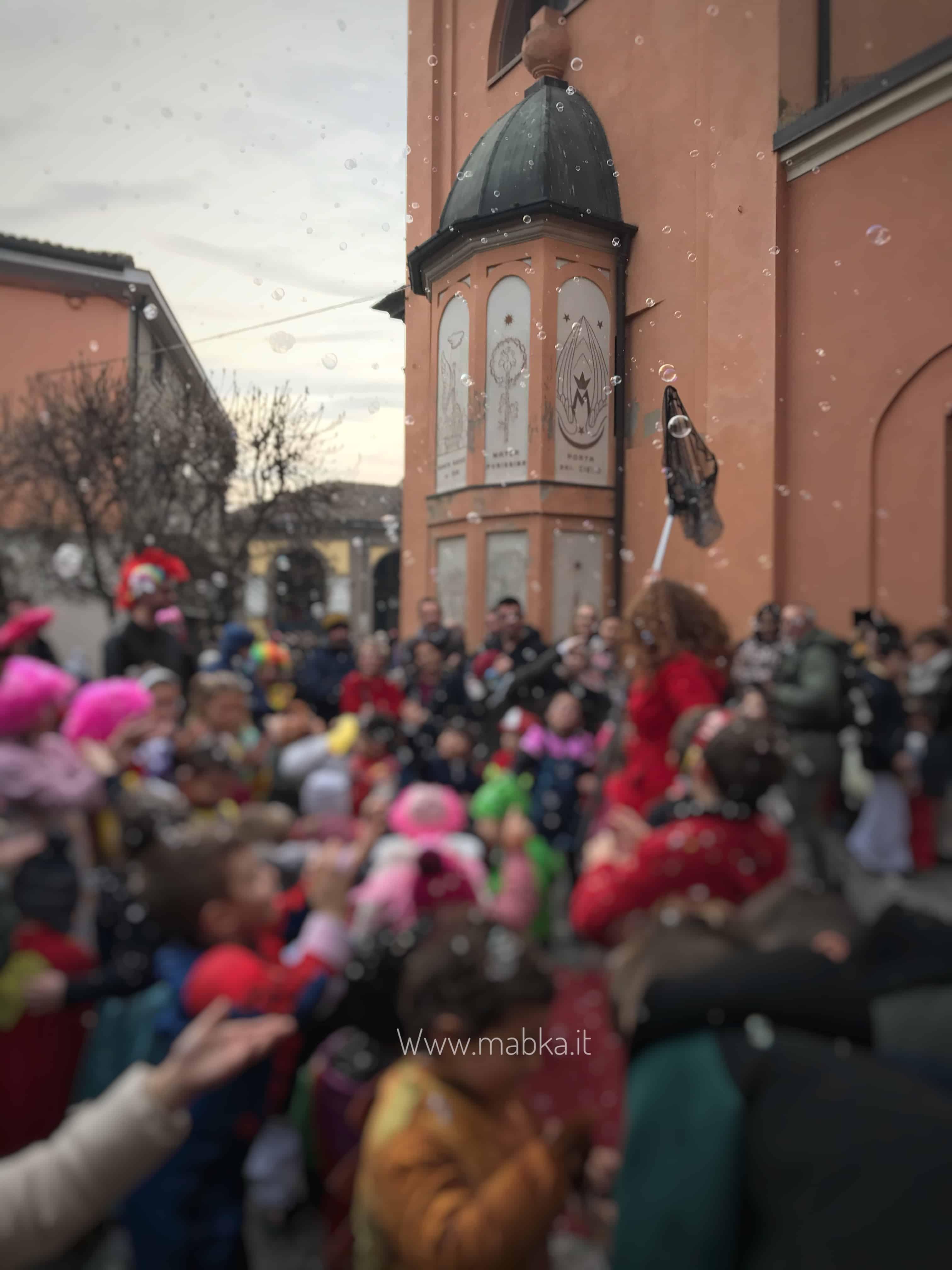 Spettacolo di bolle a Codogno,