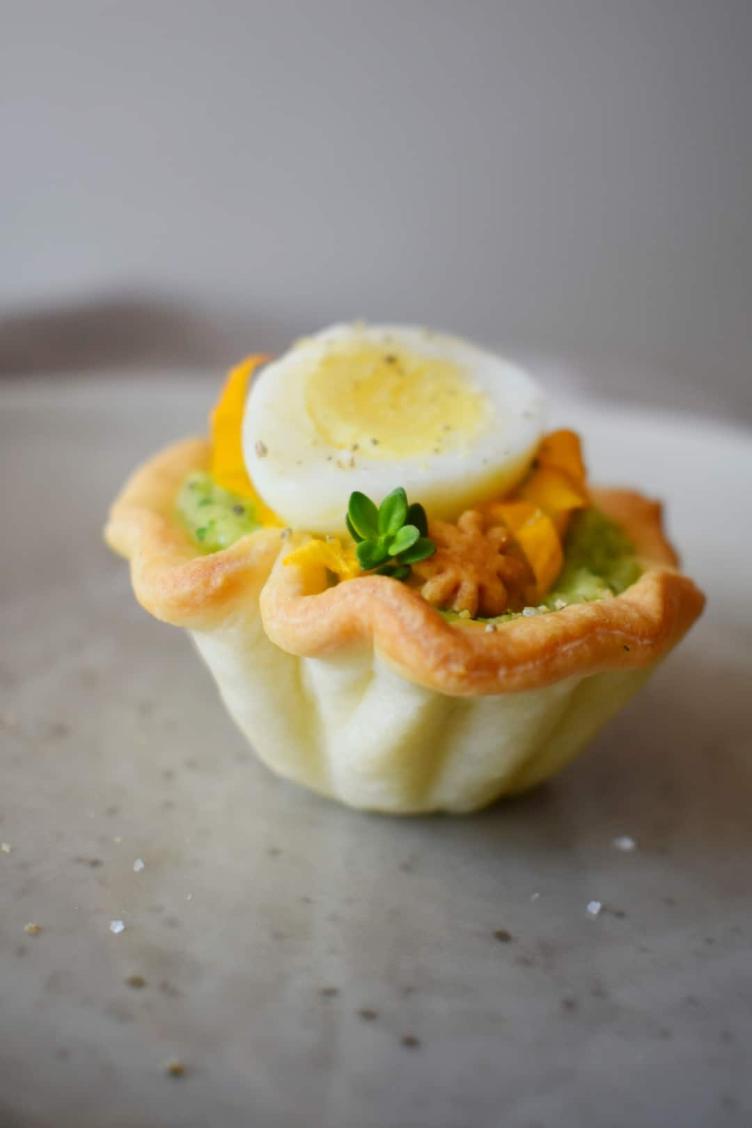 Cestini di zucchine con uova di quaglia