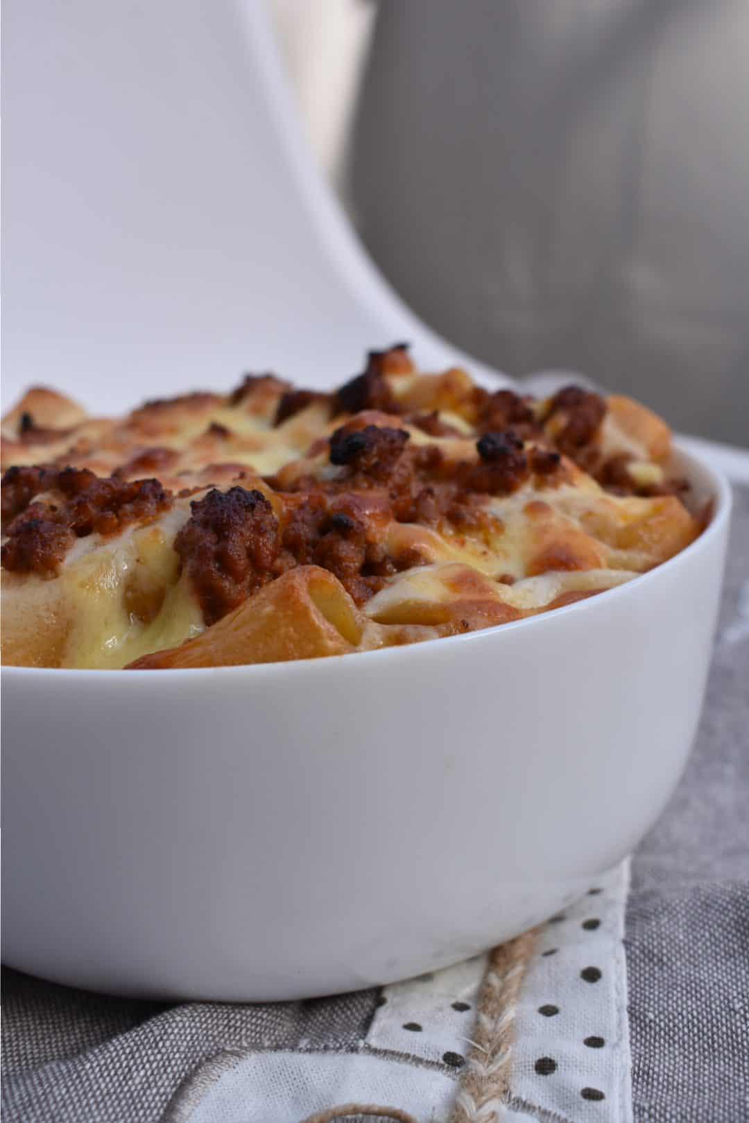 Pasticcio con formaggio affumicato lactose free