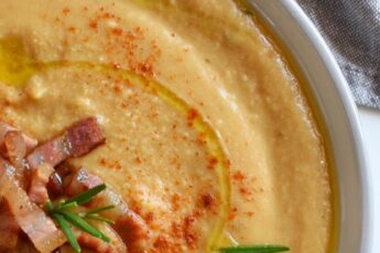 crema di ceci con pancetta e paprika