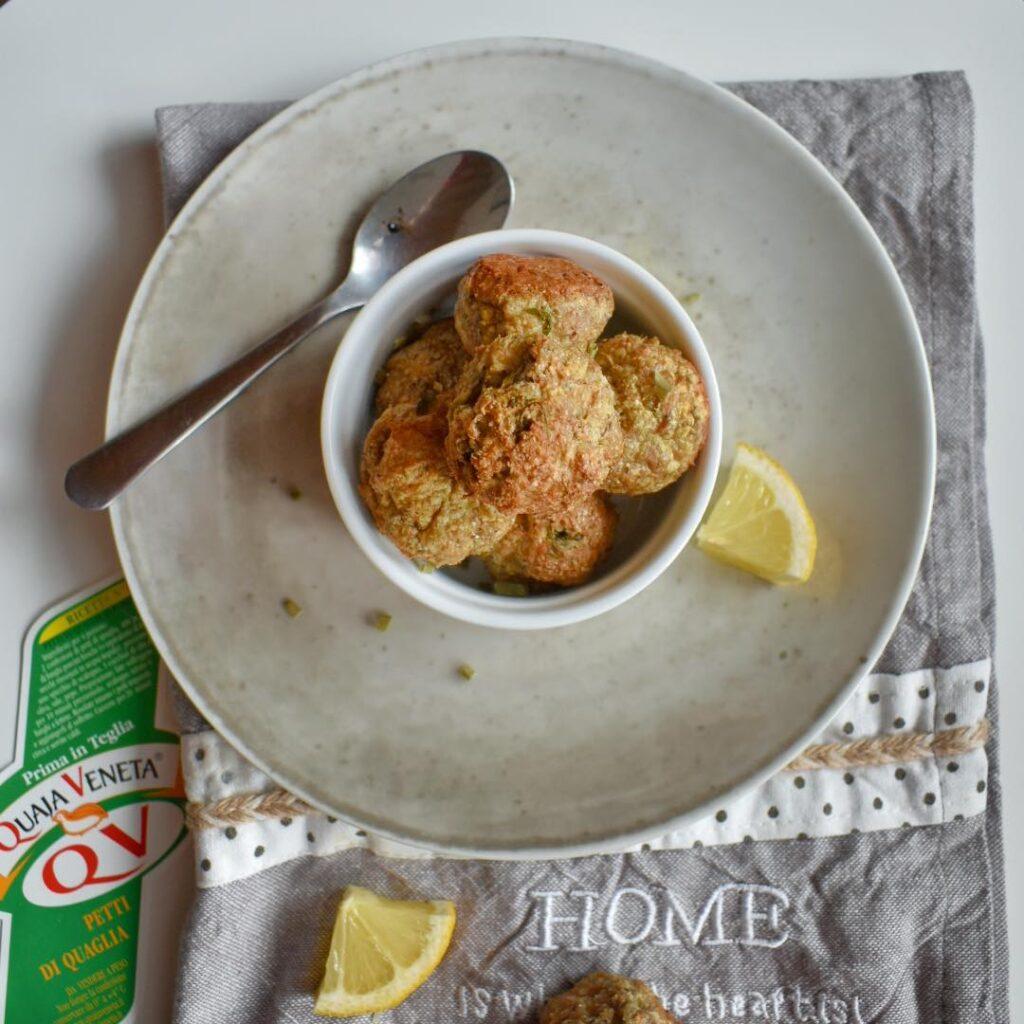 polpette di quagli al limone al forno