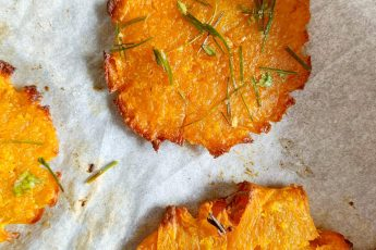 patate dolci schiacciate